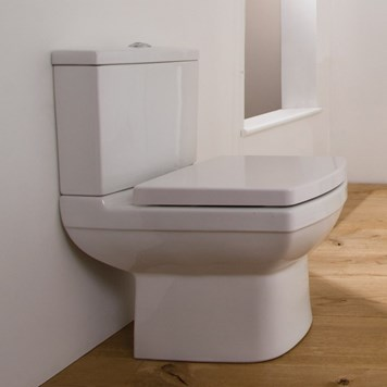 Saneux I-Line II Rimless Short Projection Close Coupled Toilet with Cistern & Seat