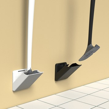 Sanimaid Boston Hygienic Toilet Bowl Cleaner & Wall Holder - White or Black