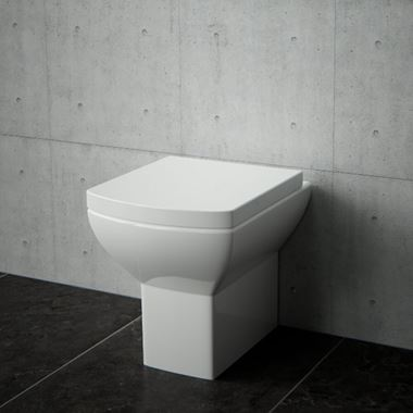 Saneux I-Line Rimless Back to Wall Toilet with Soft Close Seat
