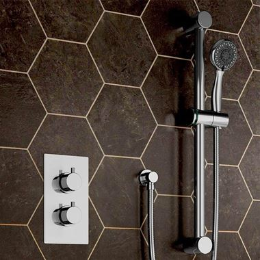 Drench Savannah Concealed Thermostatic Shower Valve & Slide Rail Kit