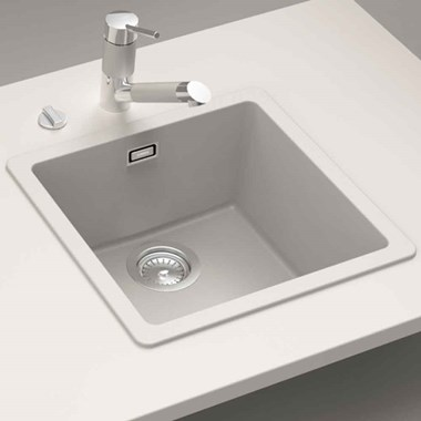 Schock Quadro Compact Cristalite Granite Single Bowl Sink & Waste Kit - 450 x 430mm