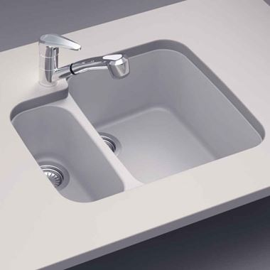 Schock Solido Cristalite Granite 1.5 Bowl Undermount Sink & Waste Kit - 597 x 500mm