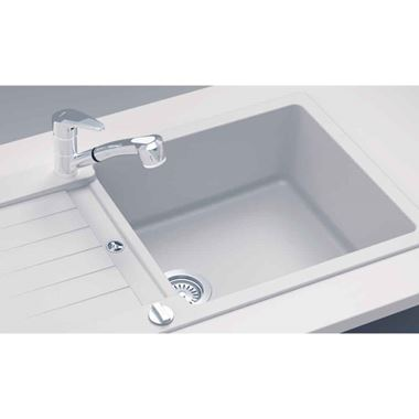 Schock Typos Large Cristalite Granite Single Bowl Kitchen Sink with Reversible Drainer & Waste Kit - 1000 x 500mm