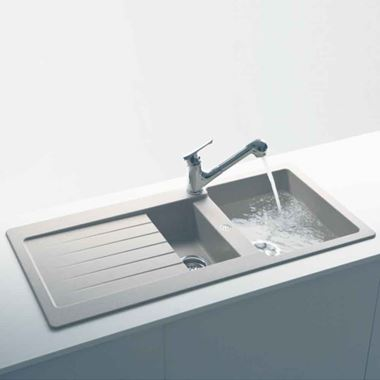 Schock Typos Cristalite Granite 1.5 Bowl Kitchen Sink with Reversible Drainer & Waste Kit - 1000 x 500mm