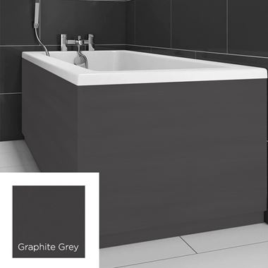 Harbour Matt Graphite Grey 800mm Vinyl Wrap Bath End Panel