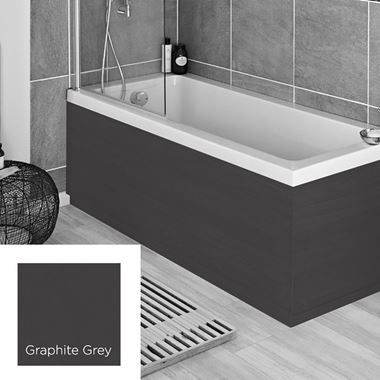 Harbour Matt Graphite Grey 1700mm Vinyl Wrap Bath Panel