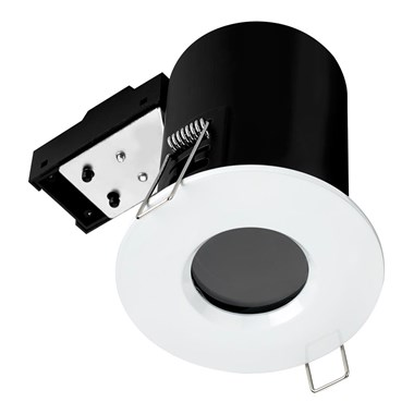 Sensio GU10 Fire Rated LED Shower Light Fitting - White