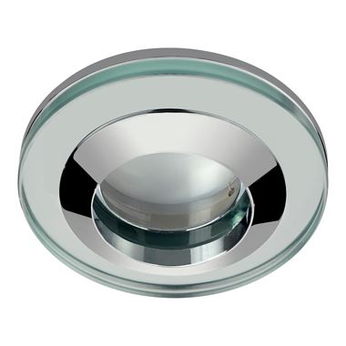 Sensio GU10 Round Glass LED Shower Light Fitting