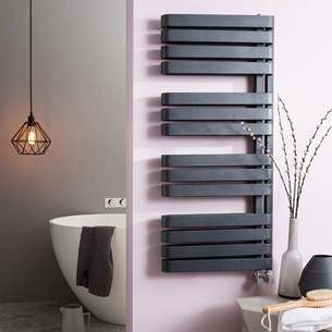 Bauhaus Svelte Towel Rail in Metallic Black Matte - 500 x 1100mm