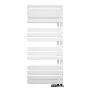 Bauhaus Svelte Towel Rail in Soft White Matte - 500 x 1100mm