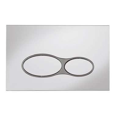 Bauhaus Svelte Chrome Flush Plate