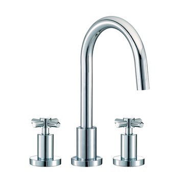 Mayfair Series C 3 Hole Basin Mixer Set with Pop-Up Waste