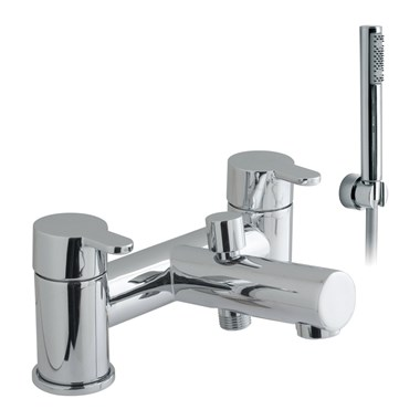 Vado Sense 2 Hole Bath Shower Mixer with Shower Kit