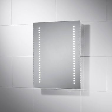 Sensio Isla Battery Powered LED Bathroom Mirror - 500 x 390mm