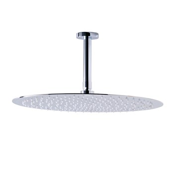 Phoenix Luxury Stainless Steel Round Shower Head and Ceiling Arm - 400mm