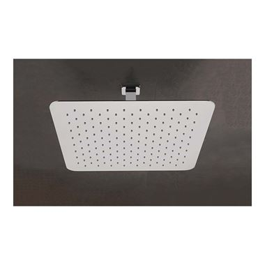 Sagittarius Almeda Slim Square Head And Ceiling Arm (400mm X 400mm)