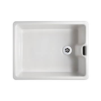 Shaws Belfast White Ceramic Single Bowl Sink