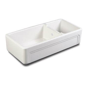 Shaws Egerton offset Double White Ceramic Sink