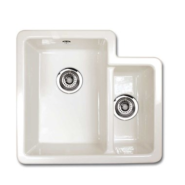 Shaws Brindle White Ceramic 1.5 Bowl Sink