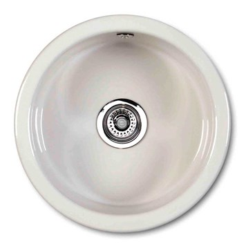 Shaws Classic Round White Ceramic Single Bowl Sink