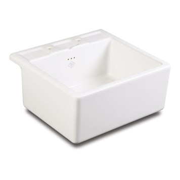 Shaws Ribblesdale White Ceramic sink with Tap Shelf
