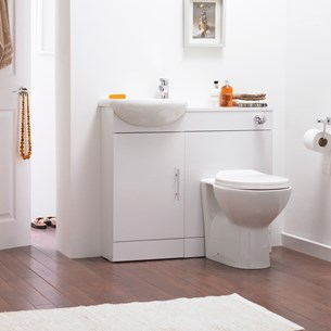 Premier Sienna White Cloakroom furniture Pack
