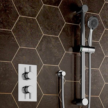 Silda Budget Concealed Thermostatic Shower Valve & Slide Rail Kit