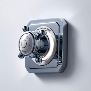 Crosswater Digital Belgravia Crosshead Single Outlet Concealed Thermostatic Shower Valve