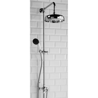 Butler & Rose Elizabeth Luxury Traditional Rigid Riser Rail with Head, Handshower & Diverter