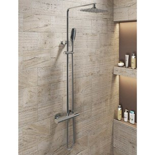 Vellamo Oval Style Thermostatic Exposed Shower System