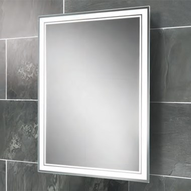 HIB Skye Landscape or Portrait Steam Free Fluorescent Back-Lit Mirror