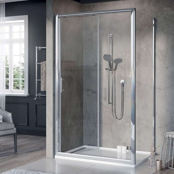 Harbour i6+ Easy Clean 6mm Sliding Shower Door & Optional Side Panel - Pre Assembled