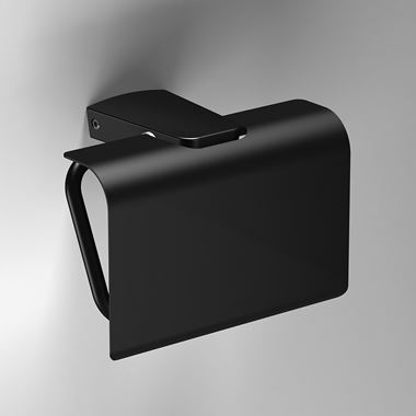 Sonia S6 Black Covered Toilet Roll Holder