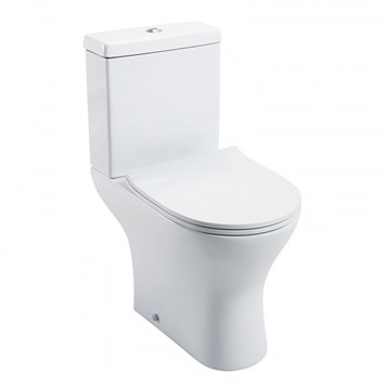 Harbour Identity Short-Projection Toilet with Wafer Thin Soft-Close Seat