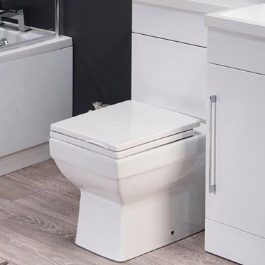 Harbour Alchemy Square Back to Wall Toilet with Soft Close Seat