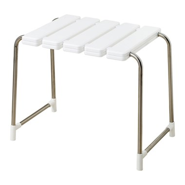 Phoenix Luxury Shower Bench White