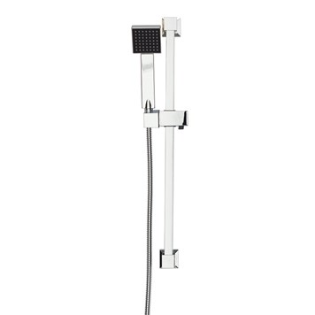 Vellamo Square Shower Slide Rail Kit - Chrome