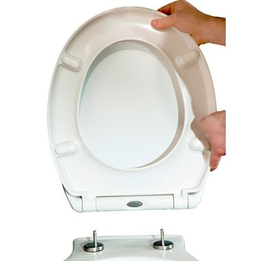 Vellamo Duroplast Soft-Close Toilet Seat with Quick Release Hinges