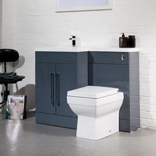 Structure Furniture Suite inc. Back to Wall Toilet & Concealed Cistern - Anthracite