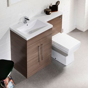 Structure Furniture Suite inc. Back to Wall Toilet & Concealed Cistern - Medium Oak