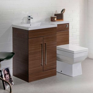 Structure Furniture Suite inc. Back to Wall Toilet & Concealed Cistern - Walnut