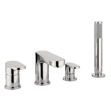 Proflow  Track 4 Hole Bath Shower Mixer Set