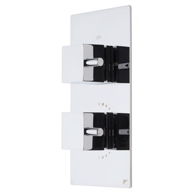 Roper Rhodes Event Square Concealed Two Function Diverter Thermostatic Shower Valve