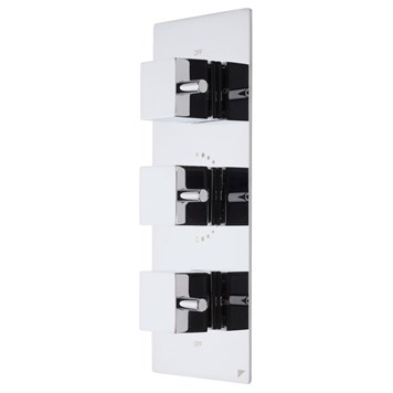 Roper Rhodes Event Square Concealed Three Function Diverter Thermostatic Shower Valve