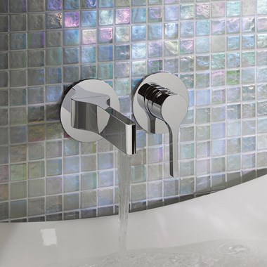 Crosswater Svelte Basin Set with Wall Mounted Spout