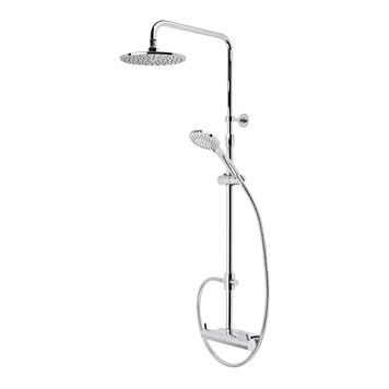 Roper Rhodes Storm Thermostatic Dual Function Bar Valve Shower System with Shelf