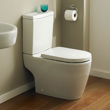 Swift Modern Close-Coupled Toilet with Soft-Close Toilet Seat