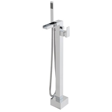 Vado Synergie Floor Standing Bath Shower Mixer with Shower Kit