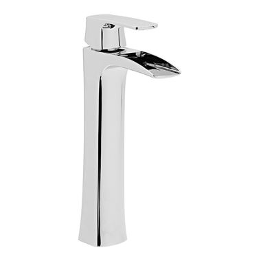 Roper Rhodes Sign Tall Waterfall Basin Mixer with Clicker Waste