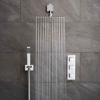 Vado Tablet Notion Vertical Concealed Thermostatic Shower Valve Package 13